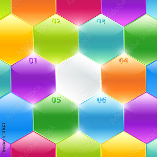 Conceptual vector of colorful polyhedrons. Business banners
