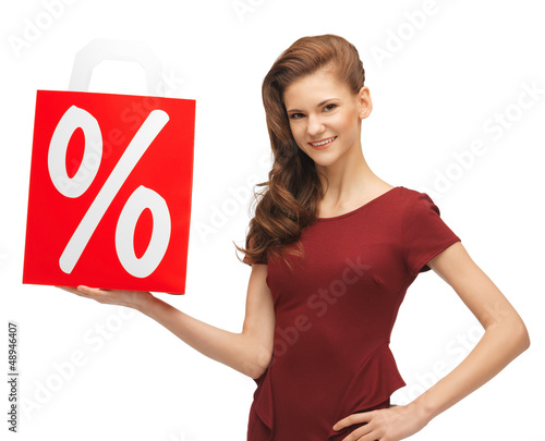 girl with shopping bag