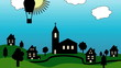 Kirche im Dorf (Cartoon)