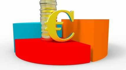 Gráfico con monedas euro
