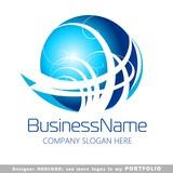 abstract business logo vector