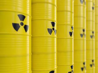 Atommüll Tonnen - nuklearer Abfall