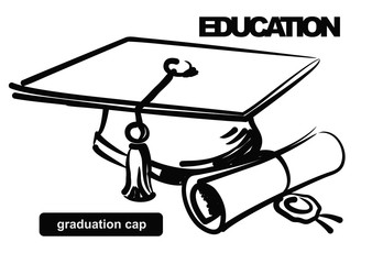 illustration of graduation cap