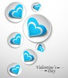 Hearts circle design for valentine,s day vector