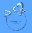 Beautiful Valentine's Day blue card background illustration