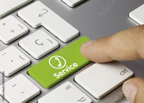 Service phone tastatur. Finger