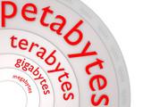 BIG Data_mega; giga; tera; petabytes - 3D poster