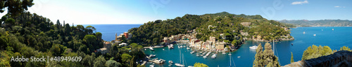 Panorama of Portofino town