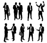 business people silhouettes collection