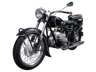 Oldtimer Motorrad, vintage Bike, Chrome 1940