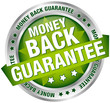 "Button Banner ""Money Back Guarantee"" Green/Silver"