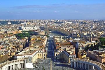 Via della Conciliazione vista dalla Cupola di San Pietro