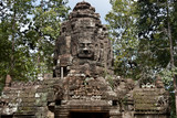 Gopura carved with faces - Ta Som Temple,  Angkor, Cambodia.