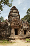 Ta Som Temple - gopura tower, entrance ways, Angkor, Cambodia.
