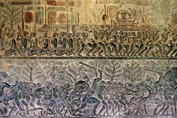 Life scene of King Suryavarman II - Angkor Wat, Siem Reap