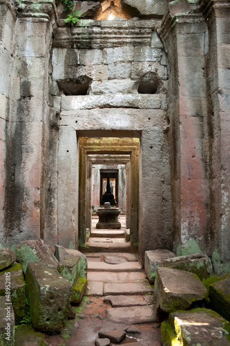 Interior passage detail, Preah Khan Temple - Siem Reap, Cambodia