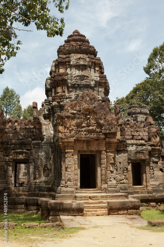 Ta Som Temple - gopura tower, entrance ways, Angkor, Cambodia.