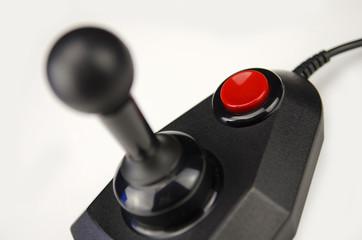 Black 1980s joystick