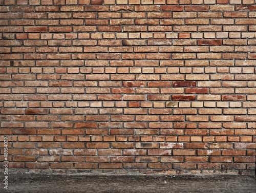 Foto op Plexiglas Wand parete di mattoni