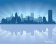Buffalo, New York skyline city silhouette