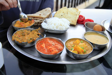 Traditional indian meal - thali