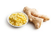 sliced ​​ginger root