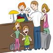 Hotel Check-in Family