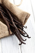 vanilla pods on kitchen table