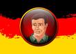 Mann mit deutscher Flagge