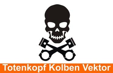 Totenkopf Kolben Vektor