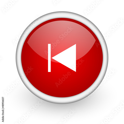 prev red circle web icon on white background