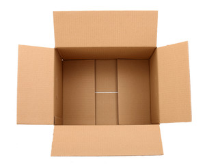 Carton box isolated over white background
