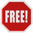 Stopschild rot FREE!