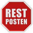 Stopschild rot REST POSTEN