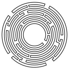 Irrgarten ~ Labyrinth ~ Rätsel ~ Kreis