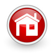 home red circle web icon on white background