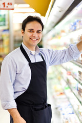 Clerk in a supermarket