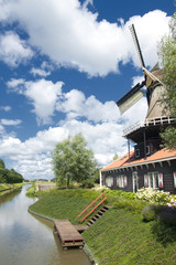 Dutch mill near the water