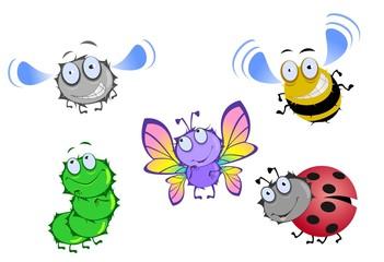 Набор из насекомых
