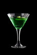 Apple-melon martini coctail