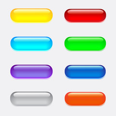 Big glass colored buttons