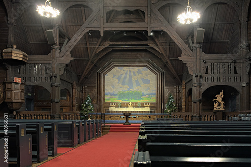 Interior of the Kiruna Church, Sweden