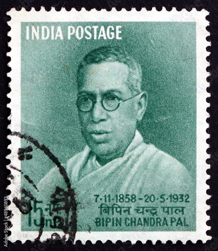 Postage stamp India 1958 Bipin Chandra Pal