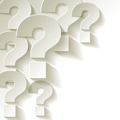 die Fragezeichen Papier Weiss