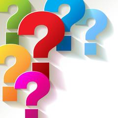 die Fragezeichen Papier Bunt