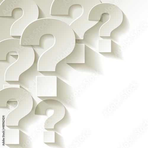 die Fragezeichen Papier Weiss © AllebaziB