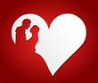 Herz rot Brautpaar