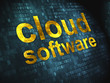 Cloud computing technology, networking concept: Cloud Software o