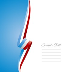 Luxembourg left side brochure cover vector