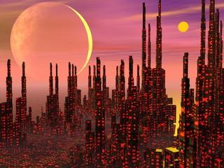 Fantasy city - 3D render